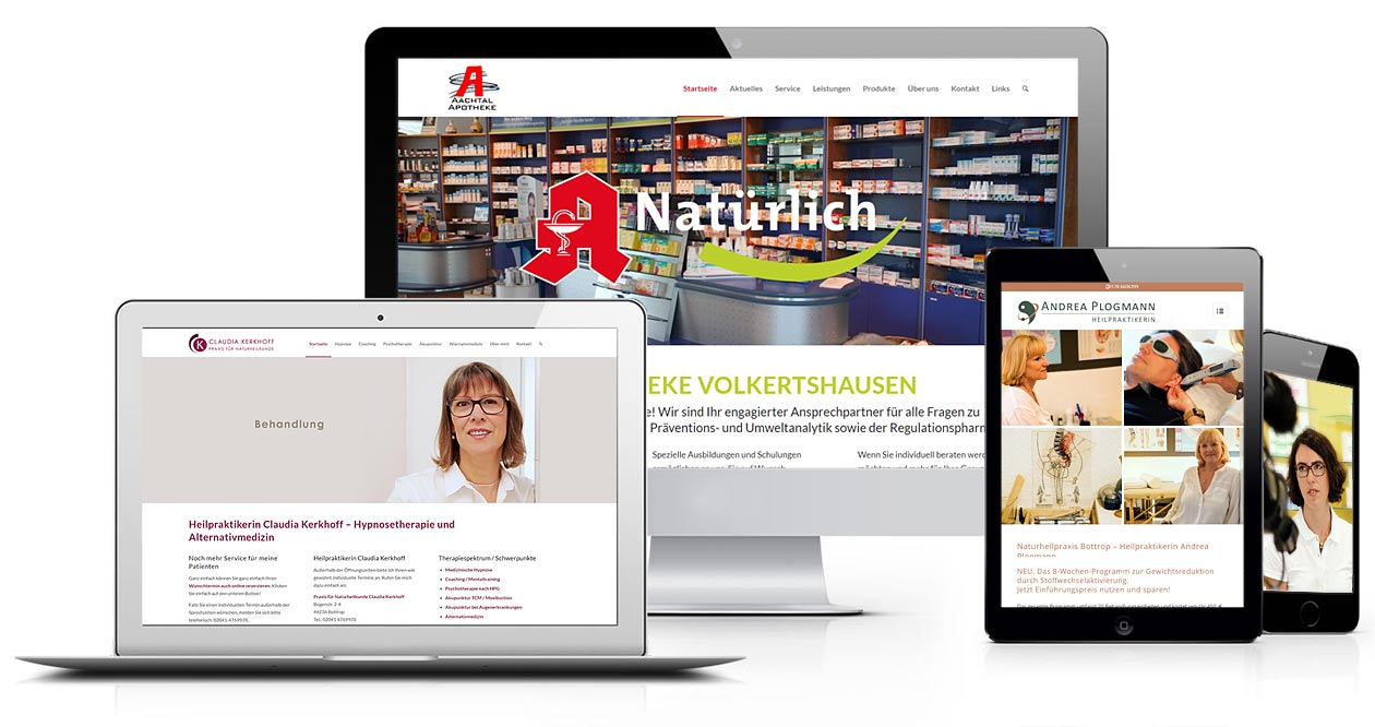 Webdesign & Social-Media-Marketing für Ärzte, Apotheker, Heilpraktiker