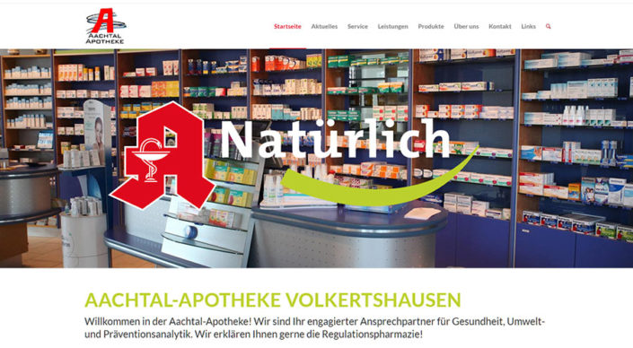 Screenshot: Aachtal Apotheke