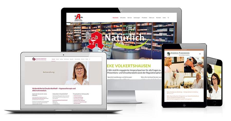 Webdesign, klassische Werbung, Online-Marketing und Facebook-Betreuung für Ärzte, Apotheker, Pflegedienste, Heilpraktiker etc.
